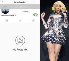 Insta-Detention! #TamarBraxton deactivates her Instagram account.