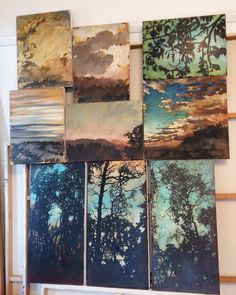 My painting process includes being able to view my works dealing with similar issues. In this case landscapes and light. Painting Process, My Works, Landscapes, Art, Idea Paint, Paisajes, Art Background, Scenery, Kunst