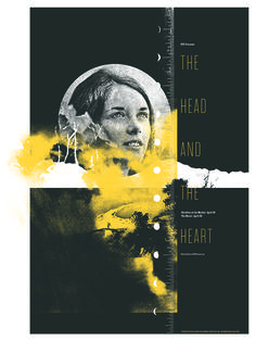 The Head and The Heart poster by Invisible Creature - Already on my wall
