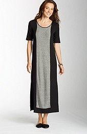 Wearever long marled-front dress. http://www.jjill.com