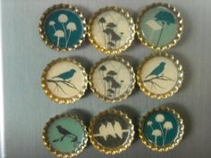 Bottle cap resin magnets