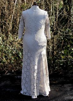 Upcycled Vintage Crocheted Cartwheel Lace Wedding Dress by sowsearstudio1- $630 - available as of March 2016 - UK size 18
