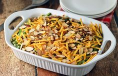 Creamy green bean casserole made so easily.  A hit with the whole family!