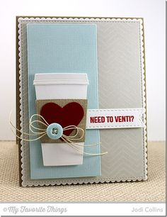 Perk Up, Coffee Cup Die-namics, Fine Chevron Background, Linen Background - Jodi Collins #mftstamps
