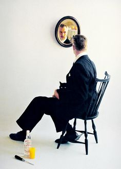 1955. Vincent Price for Smirnoff. Shot by Bert Stern.