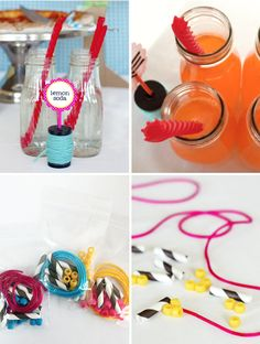 Paper Straws aren't just for sipping!!! Lalaloopsy Party Supplies Straws Necklaces #lalaloopsy