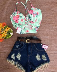 clothes for women,casual outfits,base layer clothing,casual outfits Summer Outfits For Teens, Teenage Outfits, Girl Outfits, New Fashion Clothes, Teen Fashion, Fashion Outfits, Cute Casual Outfits, Short Outfits, Mode Rock