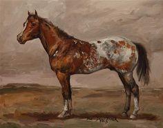 """""""Appaloosa"""" - Original Fine Art for Sale - © Sue Deutscher"""
