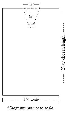 Kaftan how to sew diagram 1