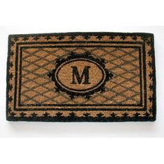 "Geo Crafts Creel Chateau Monogrammed Doormat Rug Size: 1'6"" x 2'6"", Letter: A"