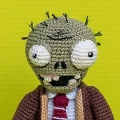 Zombie - Plants vs. Zombies amigurumi crochet pattern by AradiyaToys
