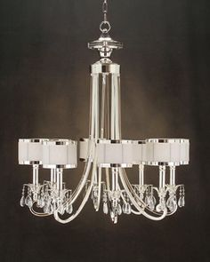 #PlumPerfect (Silver And Glass Accent Chandelier at Plum28)