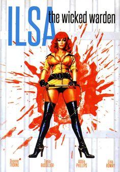Ilsa the Wicked Warden starring Dyanne Thorne, exploitation movie poster