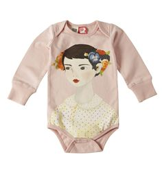 Girl with Flowers in Hair Romper by Rock Your Baby