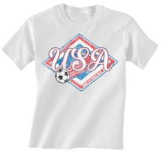 USA Football World Cup Childrens Boys/Girls Retro Soccer T-Shirt available at http://www.world-cup-products-worldwide.com/usa-2014-soccer-world-cup-childrens-unisex-retro-soccer-t-shirt/