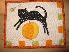 Halloween / Fall mug rug