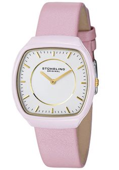 Shop for Stuhrling Original Women's Masquerade Quartz Ceramic Pink Leather Strap Watch. Get free delivery On EVERYTHING* Overstock - Your Online Watches Store! Casual Rings, Skeleton Watches, Pink And Gold, Pink White, Pink Leather, Soft Leather, Masquerade, Pretty In Pink, The Originals