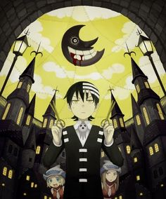 Kid, Liz and Patty from Soul Eater