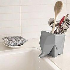 Amazon.com: MiL Home Kitchen Jumbo Cutlery Drainer, Grey: Kitchen & Dining