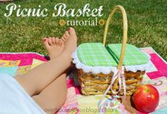 Photo tut how to make a lid for a basket. Awesome idea! Picnic Basket Tutorial, Over The Apple Tree