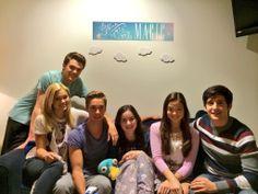 Olivia Holt, Austin North, Peyton Clark, Sarah Gilman and Piper Curda with Wesam Keesh