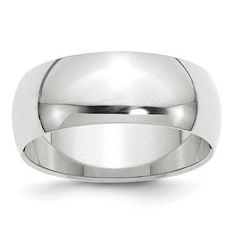 Cobalt Sterling Silver Inlay Satin 8mm Flat Band Size 7 Length Width 8
