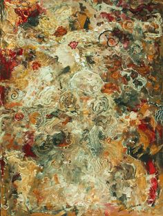 Abstract painting mother and child painting by LaurenMarems, $300.00