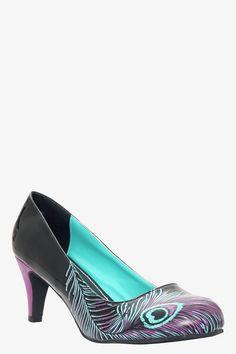 T.U.K. - Black Peacock Heels (Medium Width) | Shop All Shoes