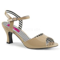 """3"""" (7.6cm) Heel Ankle Strap Peep Toe Sandal - Fit Guide: True to Size - Heel Specifications: 3"""" Heel - Country of Origin: Imported Low Heel Sandals, Dress Sandals, Peep Toe Heels, Low Heels, Ankle Straps, Ankle Strap Sandals, Stripper Shoes, Closed Toe Shoes, Thigh High Boots"""