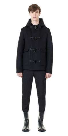 Balenciaga Short Duffle Coat - Black - Discover the latest collection and buy online Men on the Official Online Store : Balenciaga.com