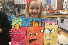1st Grade James Rizzi Fun Architecture
