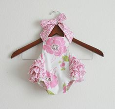 Dolce Retro Style Sunsuits Romper / Size NB 03m by xxLittleBoatsxx, $36.50