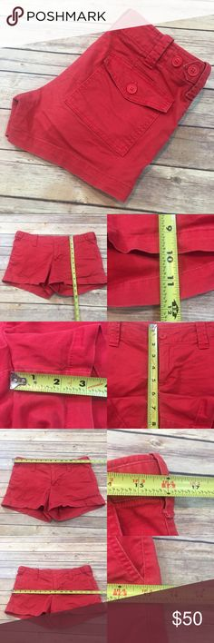 🍒Size 4 VS London Jeans Red Denim Low Rise Shorts Measurements are in photos. Normal wash wear, no flaws. E1/42  I do not comment to my buyers after purchases, due to their privacy. If you would like any reassurance after your purchase that I did receive your order, please feel free to comment on the listing and I will promptly respond.   I ship everyday and I always package safely. Thank you for shopping my closet! Victoria's Secret Shorts Jean Shorts