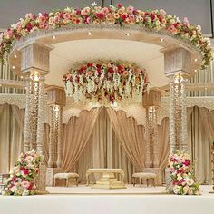 Top 24 Most Dazzling Wedding Stage Decoration That You Haven't Seen is part of Indian wedding decorations - This wedding season make your function a grand one with 24 dazzling wedding stage decoration ideas that you haven't seen in any other wedding Wedding Hall Decorations, Marriage Decoration, Backdrop Decorations, Wedding Themes, Decor Wedding, Wedding Ideas, Punjabi Wedding Decor, Wedding Centerpieces, Wedding Gifts