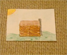 Preschool Crafts for Kids*: President's Day Lincoln Log Cabin Craft
