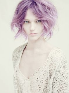 Lilac purple hair