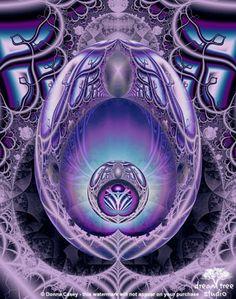Inner Beauty - fractal abstract modern art print - 8x10 colorful by DreamTreeStudio @ArtFire