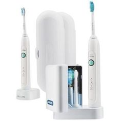 Philips Sonicare HealthyWhite 3-Mode Premium Edition: Rechargeable Toothbrush 2 Sets (2 Toothbrushes, 2 Brush heads, 1 UV Sanitizer with Integrated Charger, 1 Travel charger, 2 Travel cases): Amazon.ca: Electronics