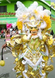 """Capitaleña: """"Los Diablos Cajuelos"""".  Carnival before Lent.  La Vega, DOMINICAN REPUBLIC."""