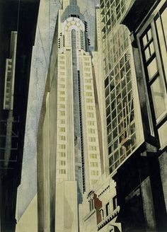 Earle Horter / The Chrysler Building Under Construction / 1931