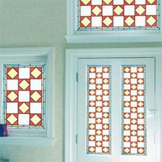 Stained glass effect window film patterns from the Victorian era. Each design can be resized and cut to your exact measurements. Victorian Design, Victorian Era, Stained Glass Window Film, Glass Film, Pattern Making, Narrowboat, Holiday Decor, Frame, Home Decor