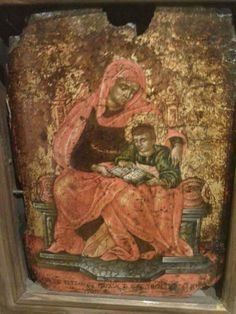 Two Old and Rare Icons of the Virgin Mary and Christ Child Catherine Of Alexandria, Greek Icons, Church Icon, Christian Paintings, Boat Painting, Archangel Michael, Religious Icons, Orthodox Icons, Blessed Mother