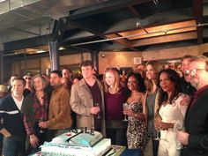 Castle cast and crew at the 100th episode celebration