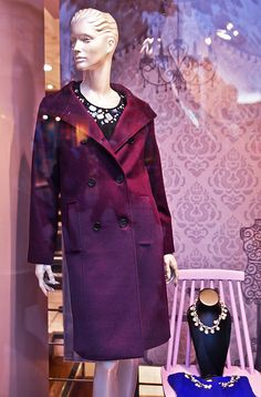 Purple In Style Pyrography Windows, Pyrography, Purple, Coat, Fashion Trends, Style, Swag, Sewing Coat, Peacoats