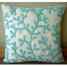 Sea Weeds  Throw Pillow Covers  20x20 Inches by TheHomeCentric