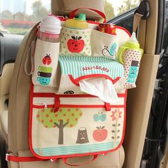 Cartoon diaper baby bag for mom, Car Seat Organizer Thermal Insulated Features - Can put the baby's bottle, cup, beverage, paper towel box Or baby diapers. - The paper towel bag - Powerful magic stick - Heat preservation bag - Elastic mesh bag with zipper - Dimension: 54cm*43cm - Material: The upscale oxford spinning fabric (Washable) - Easy to carry:It can be used as a small bag, and convenient to take it everywhere - Heat-Preservation - Can be Car Seat Organizer Item Type: Diaper Bags Item…