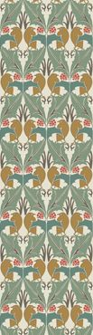 Bird & Holly by: Trustworth Studios, a British design studio, has some of the most beautiful original wallpaper designs.