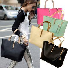 New Lady Women PU Leather Handbag Shoulder Bag Tote Satchel Messenger Bag #Unbranded #ShoulderBag
