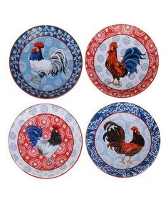 American Rooster Canape Plate Set by Certified International  sc 1 st  Pinterest & http://www.collectionsetc.com/Product/decorative-metal-rooster-wall ...
