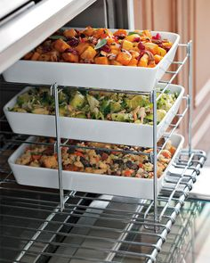 Three Tiered Oven Rack.  Great for cooking turkey and vegetables on the holidays
